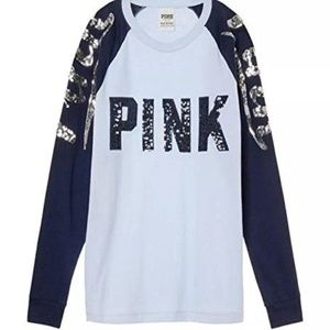 VS PINK Victoria's Secret Campus Raglan shirt M
